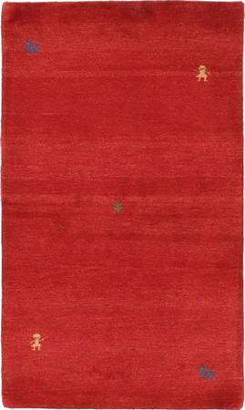 """Hand Knotted Iran Gabbeh 2'9"""" x 5'3"""" Red Rug"""