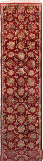 "Hand Made India Agra 2'8"" x 11'11"" Red"