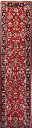"""Hand Made India Agra 2'7"""" x 11'9"""" Red"""