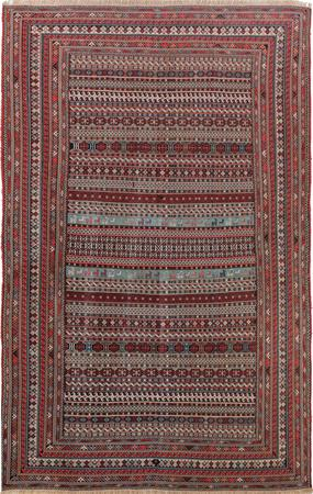 "Hand Knotted Iran Shahsevan 6'5"" x 9' Multi Rug"