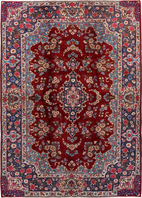 "Hand Knotted Iran Yazd 6'9"" x 9'4"" Red"