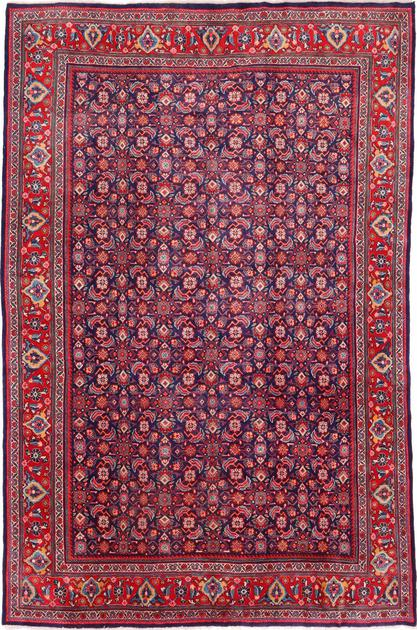 "Hand Knotted Iran Mahal 9'5"" x 12'7"" Blue DK"