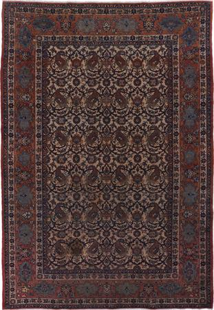 """Hand Knotted Iran Isfahan 6'9"""" x 10'2"""" Beige"""