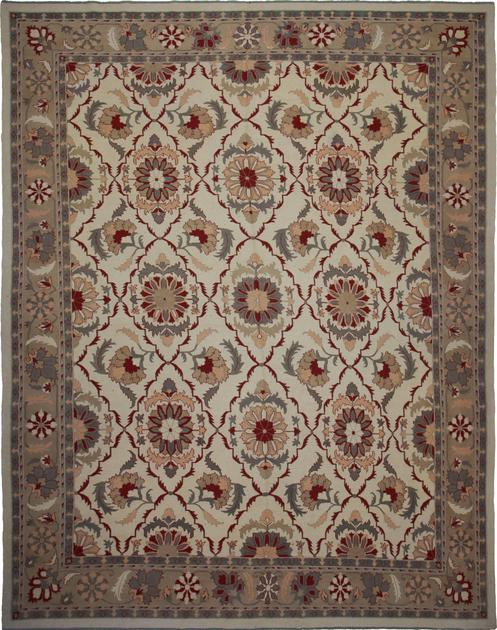 "Hand Made Pakistan Soumak 12'5"" x 15'3"" Beige"