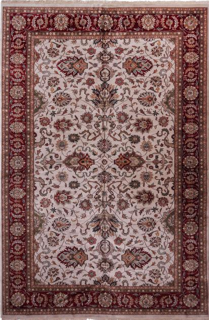 "Hand Made India Agra 11'11"" x 18' Ivory"