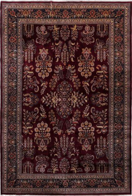"Hand Made India Sarouk 11'10"" x 17'3"" Red DK"