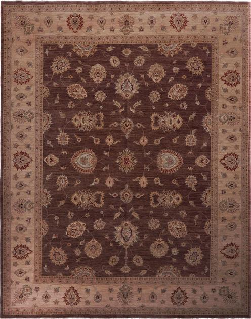 Hand Made India Mahal 12' x 15' Brown
