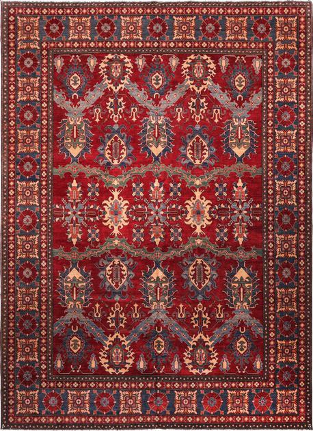 "Hand Made Pakistan Kazak 11'4"" x 15'11"" Red"