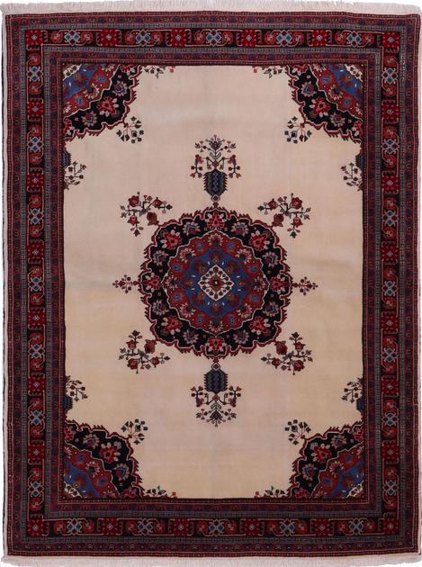 Hand Knotted Iran Sirjan 5' x 7' White