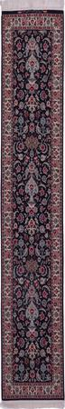 "Hand Knotted Iran Isfahan 2'2"" x 9'7"" Blue DK"