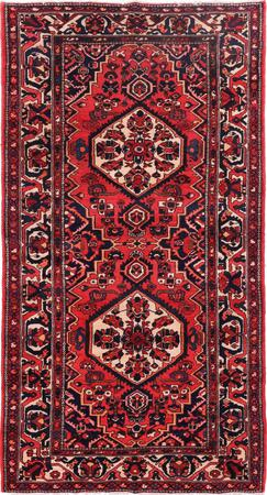 "Hand Knotted Iran Bakhtiari 5'7"" x 10'3"" Red LT"