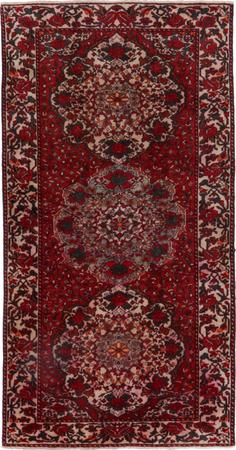 "Hand Knotted Iran Bakhtiari 5'2"" x 10' Red DK Rug"