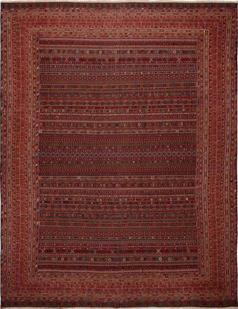 "Hand Knotted Iran Shahsevan 12'3"" x 19'6"" Tan Rug"