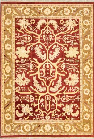 "Hand Made India Mahal 10' x 14'8"" Red DK Rug"
