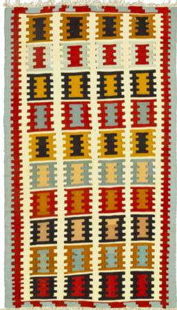 Hand Knotted Iran Kilim 3' x 5' Ivory Rug