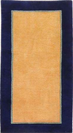 "Hand Made India Gabbeh 2'4"" x 4'5"" Yellow LT"