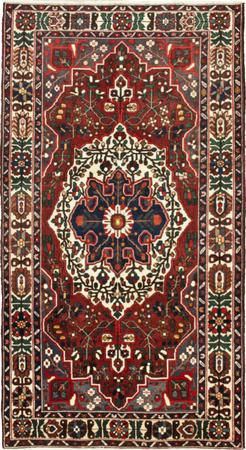 "Hand Knotted Iran Bakhtiari 5'5"" x 9'10"" Red DK Rug"