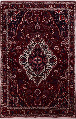 "Hand Knotted Iran Bakhtiari 6'8"" x 10'4"" Red DK Rug"