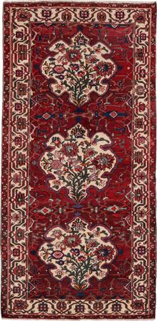 "Hand Knotted Iran Bakhtiari 5' x 10'3"" Red DK Rug"