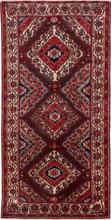 "Hand Knotted Iran Bakhtiari 5'2"" x 10'2"" Red DK Rug"