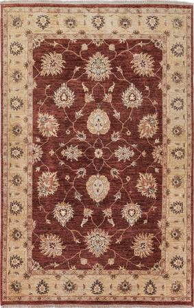 "Hand Made India Mahal 5'4"" x 8'2"" Orange DK"