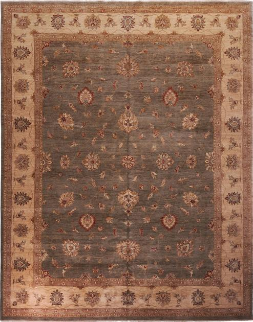 "Hand Made India Sultanabad 12' x 15'3"" Green DK"