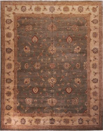 """Hand Made India Sultanabad 12' x 15'3"""" Green DK"""
