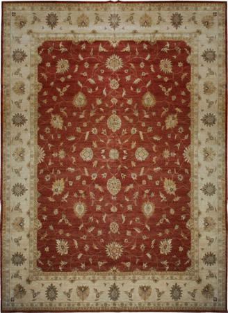 "Hand Made India Mahal 15'10"" x 20'2"" Orange DK"