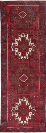 "Hand Knotted Iran Belouch 3'7"" x 10'6"" Orange DK"