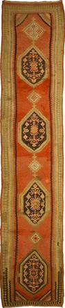 "Hand Knotted Iran Kilim 3'7"" x 19'2"" Orange LT"