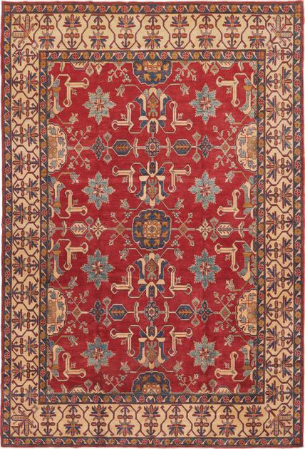 "Hand Made Pakistan Kazak 8'10"" x 12'11"" Red"