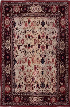 """Hand Knotted Iran Bakshaish 11'8"""" x 17'5"""" White Rug"""