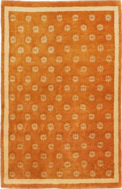 "Hand Made India Contemporary 3'3"" x 4'8"" Orange LT"