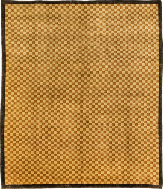 "Hand Made Tibet Contemporary 8'3"" x 9'8"" Brown DK"