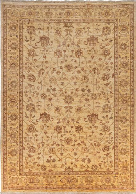 "Hand Made Pakistan Peshawar 6' x 8'3"" Tan"