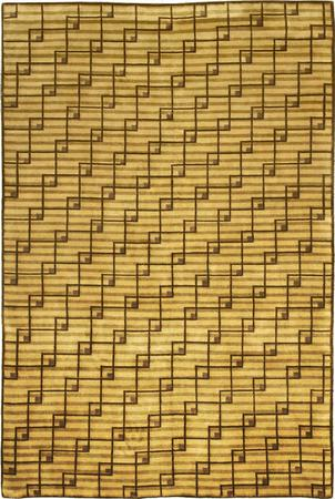 """Hand Made India Contemporary 5' x 7'8"""" Green LT"""