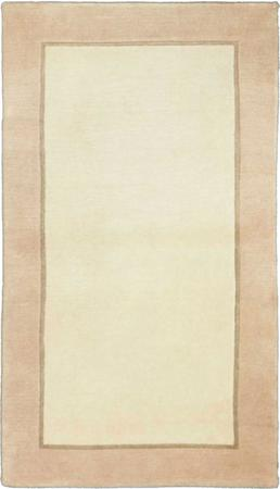 "Hand Knotted India Gabbeh 3' x 4'8"" Tan Rug"