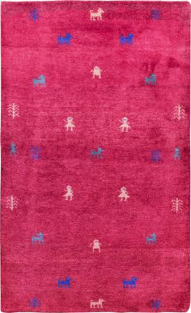"""Hand Knotted Iran Gabbeh 2'11"""" x 4'9"""" Red Rug"""