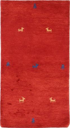 """Hand Knotted Iran Gabbeh 2'9"""" x 5' Red Rug"""