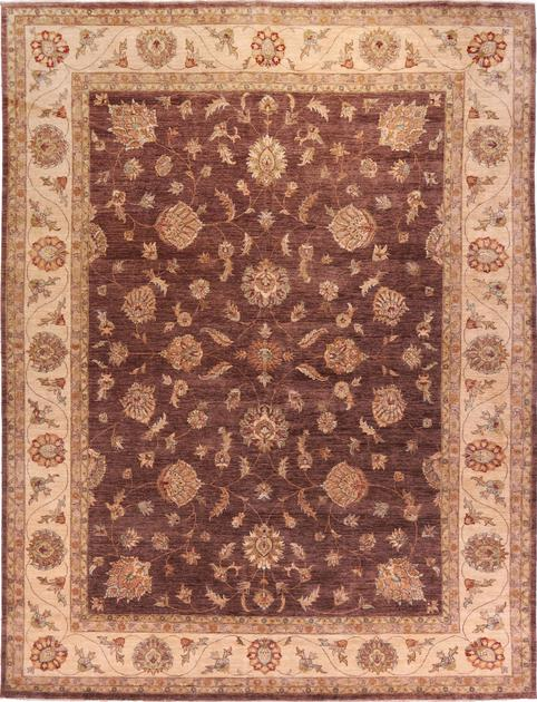 "Hand Made India Mahal 11'11"" x 15' Brown DK"