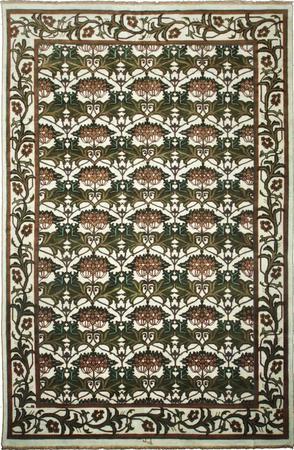 "Hand Made India William Morris 11'6"" x 17'7"" Green"