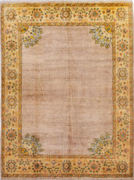 """Hand Made India Oushak 8' x 10'4"""" Pink LT"""