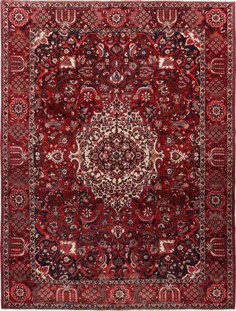 "Hand Knotted Iran Bakhtiari 9'10"" x 13'3"" Red DK Rug"