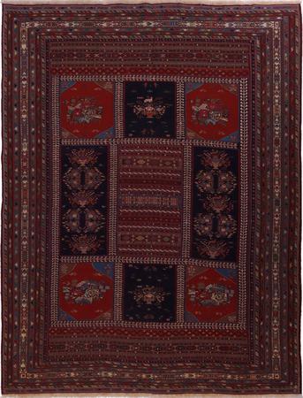"Flat Weave Iran Soumak 9'6"" x 12'7"" Multi"