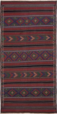 "Hand Knotted Iran Sirjan 4'11"" x 9'10"" Orange Rug"