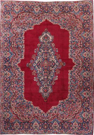Hand Knotted Iran Yazd 9'7
