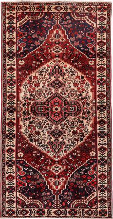 "Hand Made Iran Bakhtiari 5'3"" x 10' Orange Rug"