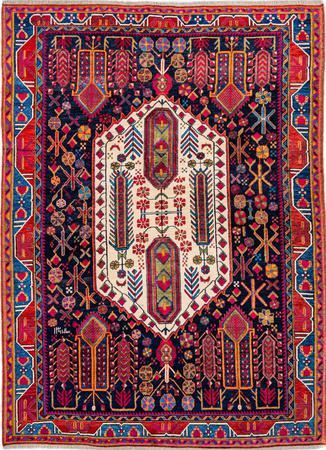 Hand Knotted Iran Sirjan 5'10