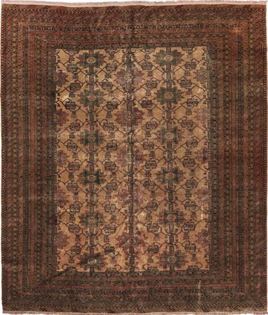 Hand Knotted Iran Turkoman 10'2