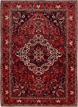 "Hand Knotted Iran Bakhtiari 8'11"" x 13' Red DK"